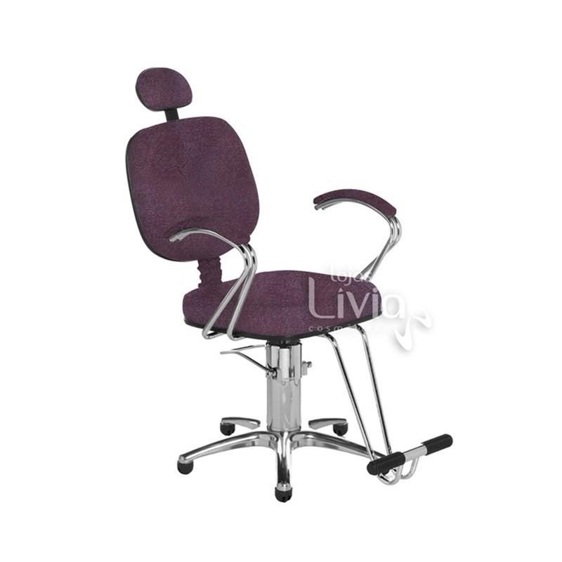 Cadeira Cromit Corsa Premium Reclinável Bordô