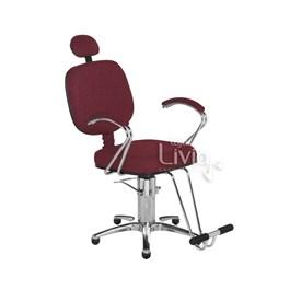 Cadeira Cromit Corsa Premium Reclinável Vinho Facto