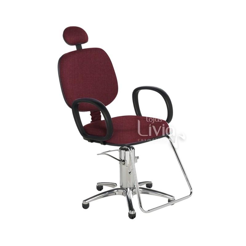 Cadeira Cromit Corsa Standard Reclinável Vinho Facto