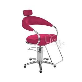 Cadeira Cromit Futurama Rosa Gliter