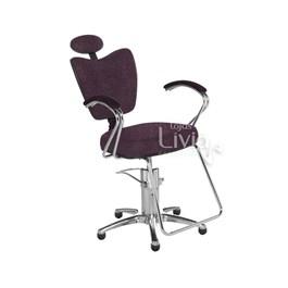 Cadeira Cromit Grécia Luxo Fixa Bordô