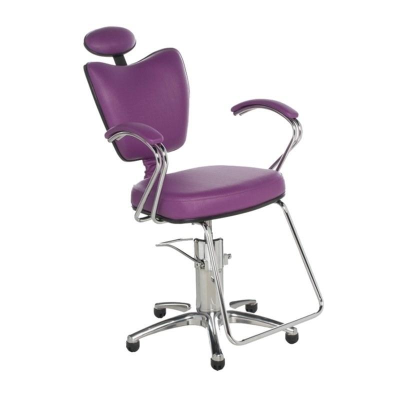 Cadeira Cromit Grécia Luxo Fixa Roxo Facto