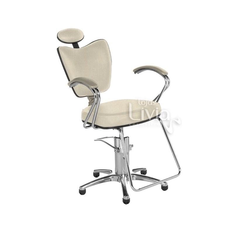 Cadeira Cromit Grécia Luxo Reclinável Areia Facto