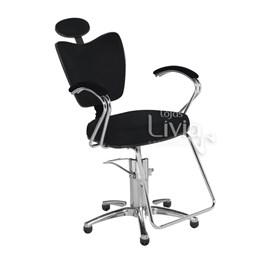 Cadeira Cromit Grécia Luxo Reclinável Preto