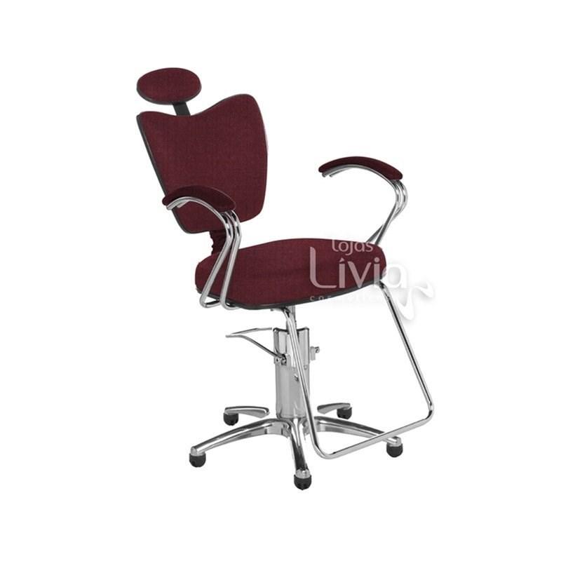 Cadeira Cromit Grécia Luxo Reclinável Vinho Facto