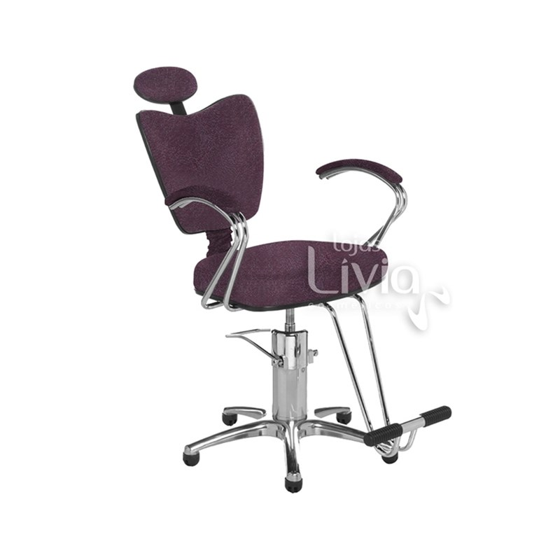 Cadeira Cromit Grécia Premium Fixa Bordô