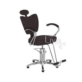 Cadeira Cromit Grécia Premium Fixa Café Facto