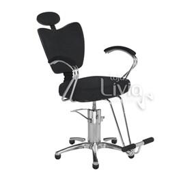 Cadeira Cromit Grécia Premium Fixa Preto