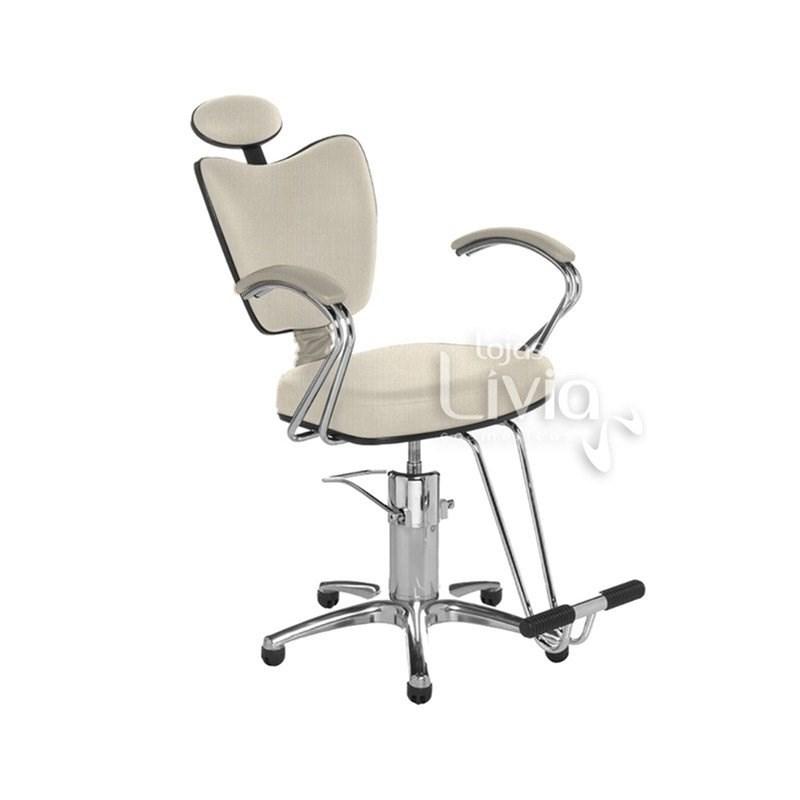 Cadeira Cromit Grécia Premium Reclinável Areia Facto