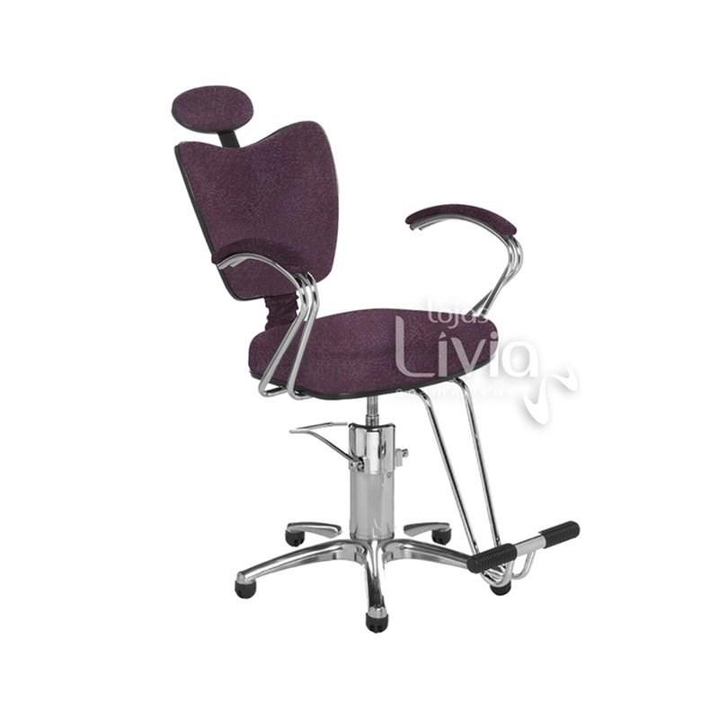 Cadeira Cromit Grécia Premium Reclinável Bordô