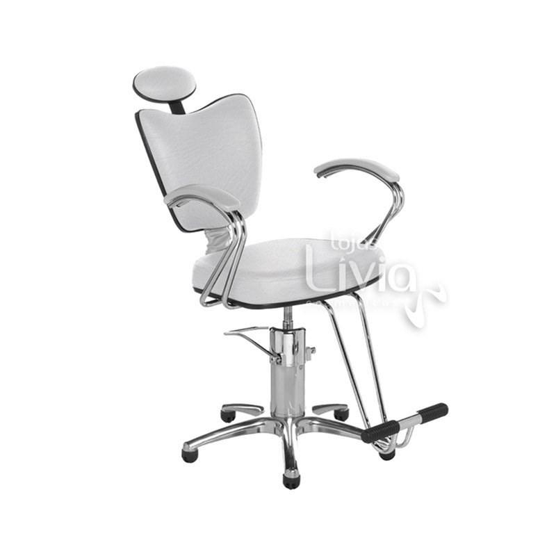 Cadeira Cromit Grécia Premium Reclinável Branco
