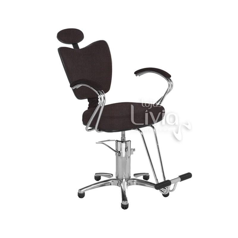 Cadeira Cromit Grécia Premium Reclinável  Café Facto