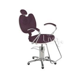 Cadeira Cromit Luana Luxo Fixa Bordô