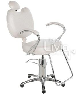 Cadeira Cromit Luana Luxo Fixa Branco