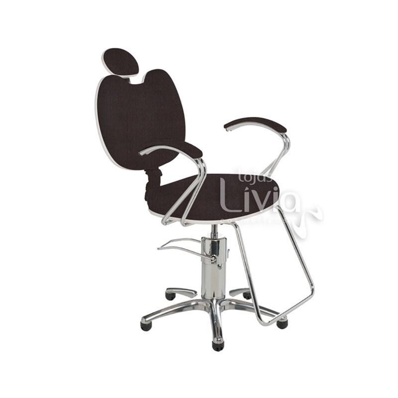 Cadeira Cromit Luana Luxo Fixa Café Facto