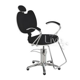 Cadeira Cromit Luana Luxo Fixa Preto