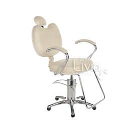 Cadeira Cromit Luana Luxo Reclinável Areia Facto