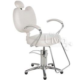 Cadeira Cromit Luana Luxo Reclinável Branco