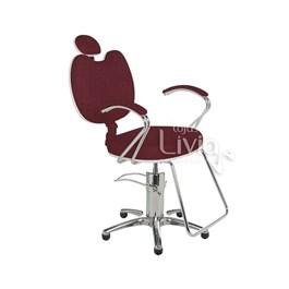 Cadeira Cromit Luana Luxo Reclinável Vinho Facto
