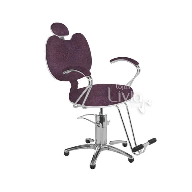 Cadeira Cromit Luana Premium Fixa Bordô