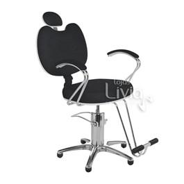 Cadeira Cromit Luana Premium Fixa Preto