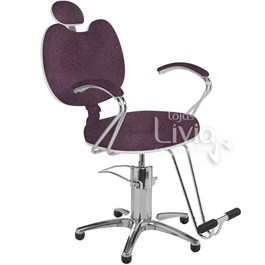 Cadeira Cromit Luana Premium Reclinável Bordô