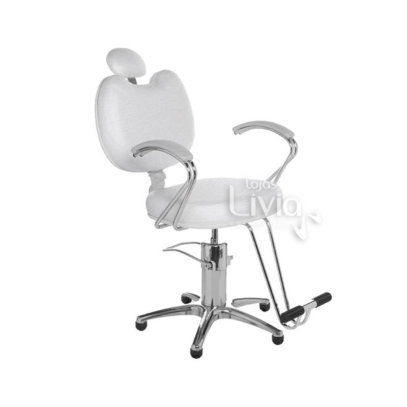 Cadeira Cromit Luana Premium Reclinável Branco