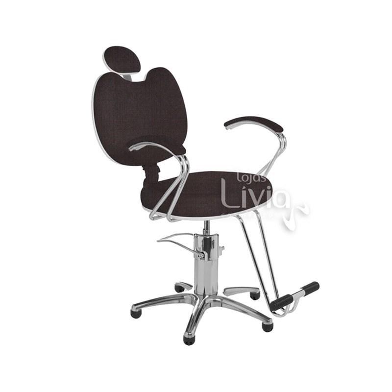 Cadeira Cromit Luana Premium Reclinável Café Facto