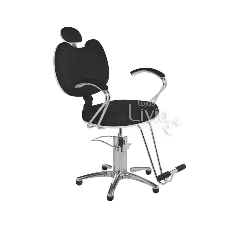 Cadeira Cromit Luana Premium Reclinável Preto