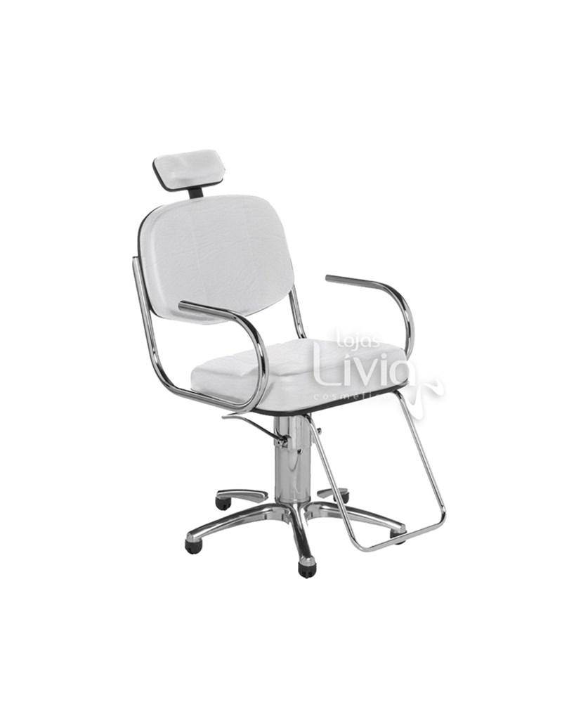 Cadeira Cromit Pratic Fixa Branco