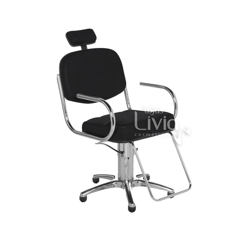 Cadeira Cromit Pratic Fixa Preto