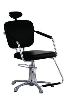Cadeira de Corte Dompel Nix Reclinável Preta
