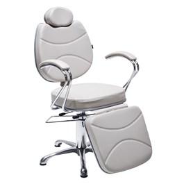 Cadeira Maquiagem Terra Santa Splendore Reclinável Branco Acetinado