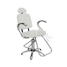 Cadeira Status Pop Cromo Fixa Branco Factor