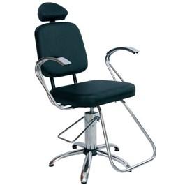 Cadeira Status Pop Cromo Fixa Preto Factor