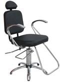 Cadeira Status Pop Cromo Reclinável Preto Factor