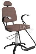 Cadeira Status Pop Plus Fixa Marrom Factor