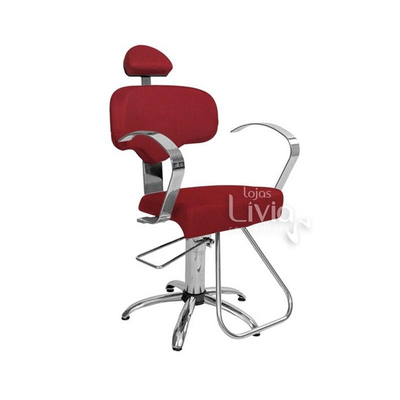 Cadeira Status Roma Fixa Vermelho Factor
