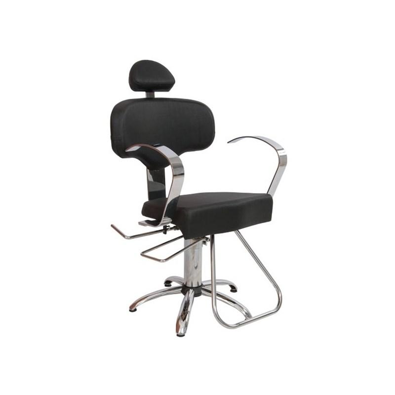 Cadeira Status Roma Reclinável Preto Factor