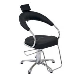 Cadeira Terra Santa Futurama Fixa Preto Acetinado