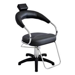 Cadeira Terra Santa Futurama Fixa Preto Acetinado Nylon