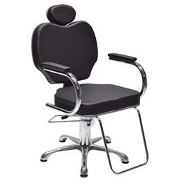 Cadeira Terra Santa Gobbi Fixa Preto Acetinado