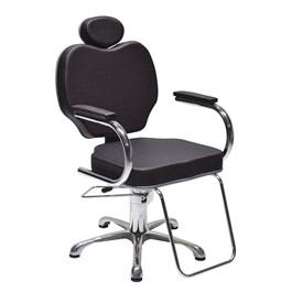 Cadeira Terra Santa Gobbi Reclinável Preto Acetinado