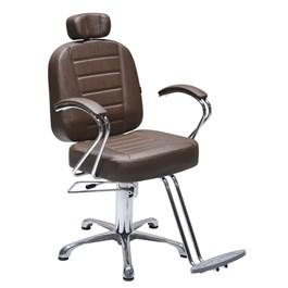 Cadeira Terra Santa Matisse Fixa Marrom Acetinado