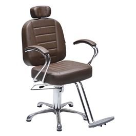 Cadeira Terra Santa Matisse Reclinável Marrom Acetinado