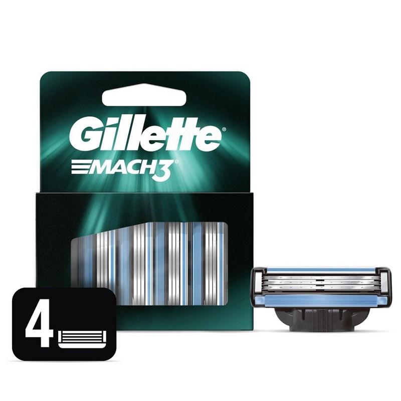Carga Gillette Mach 3 4 Unidades