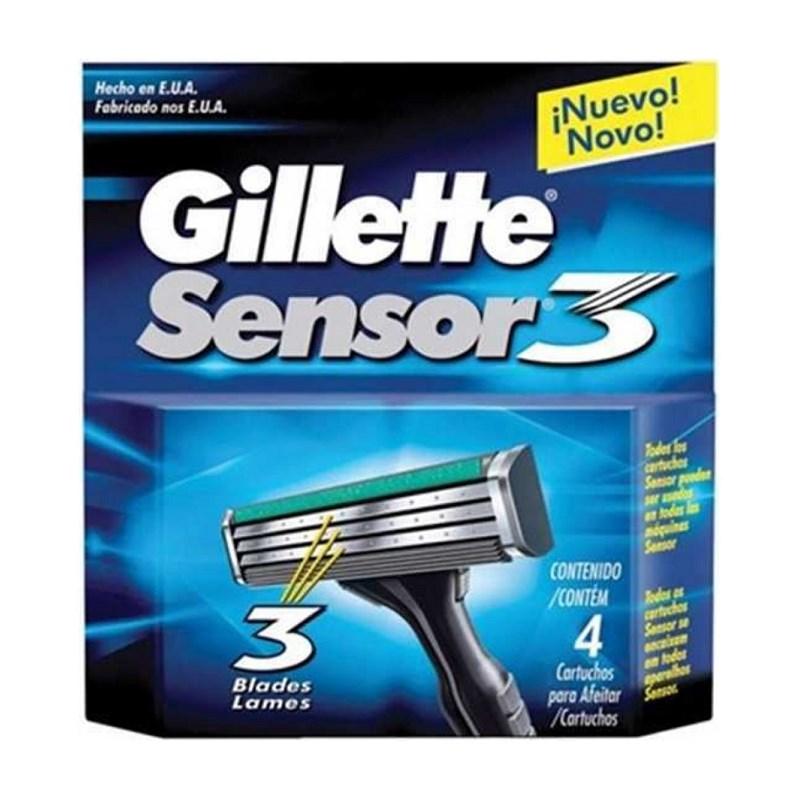 Carga Gillette Sensor 3 4 Unidades