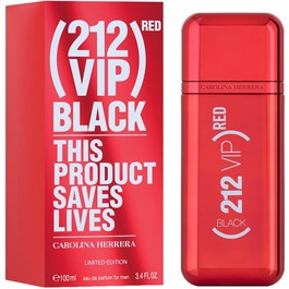 CAROLINA HERRERA 212 VIP BLACK RED MASCULINO EAU DE PARFUM 100 ML