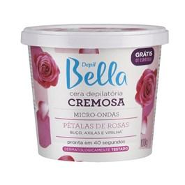 Cera Cremosa Depil Bella Micro-Ondas 100 gr Pétalas de Rosas