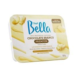 Cera Cremosa Depil Bella Premium 800 gr Chocolate Branco